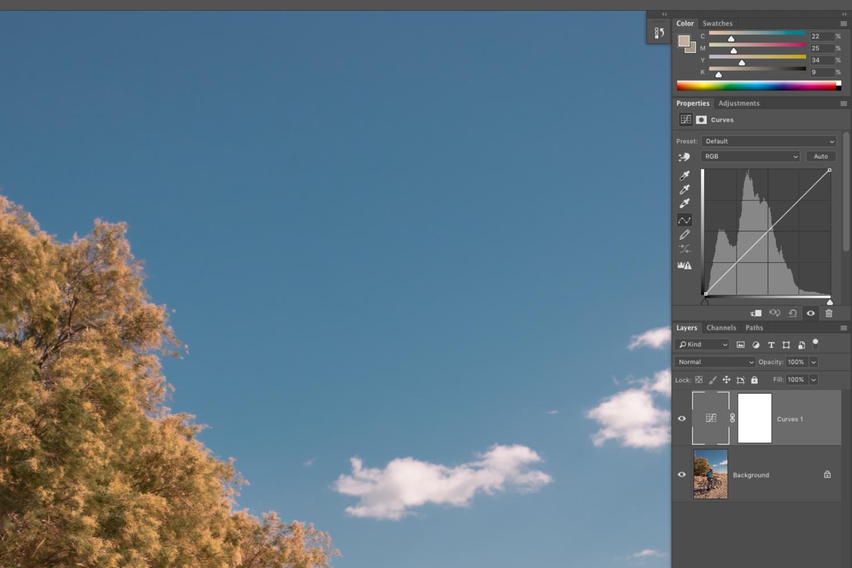 Image de l'interface de Adobe Photoshop