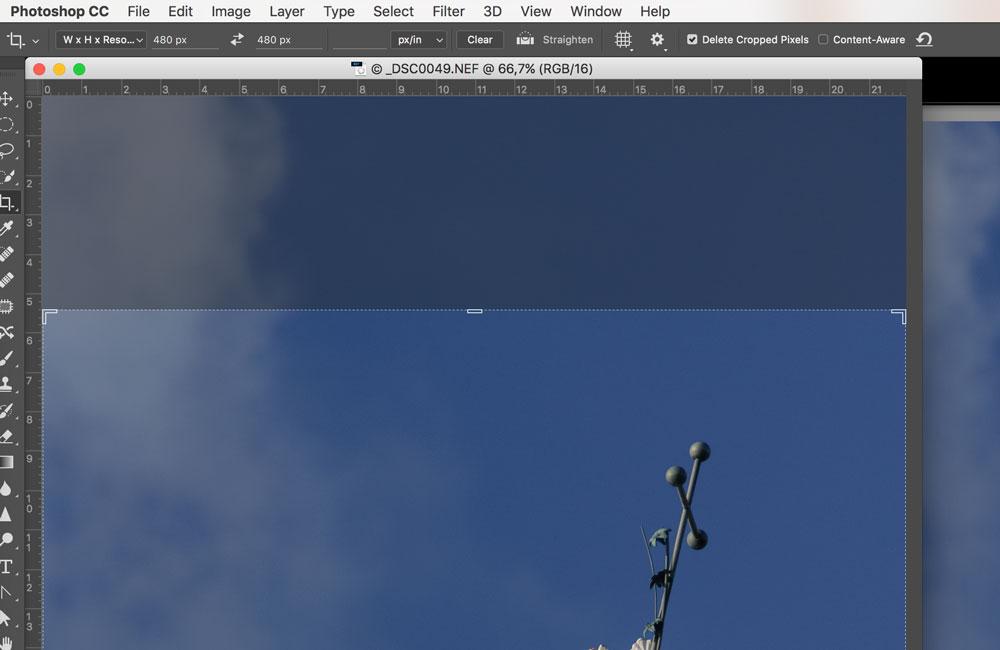 Image de l'interface du logiciel Photoshop